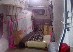 51. wystawa GPP 2013 - wszystkie elementy w ładowni auta zabezpieczone do transportu - dalej przewóz do Sosnowca.