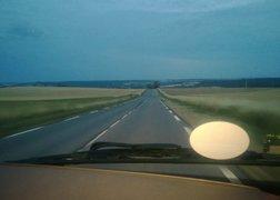 75. w drodze do Reims na załadunek - poranek na francuskiej drodze