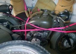 107. Transport motocykla K750 wraz z osprzętem i przyczepką.
