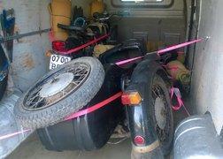 111. Transport motocykla Dniepr MT16 z Leżajska do Lubska - sposób mocowania w przestrzeni ładunkowej